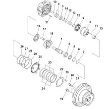 Гидромотор Komatsu Travel motor PC200-7